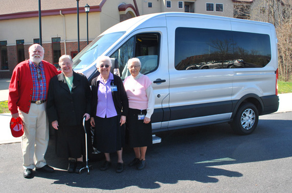 Donor Gifted Sisters with New Handicap Accessible Van