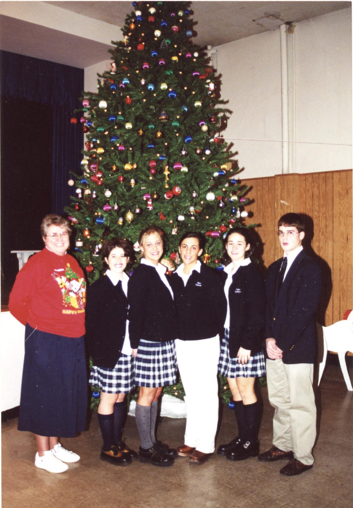 Claire Kulp and Seton Catholic Student Council Dec 2000