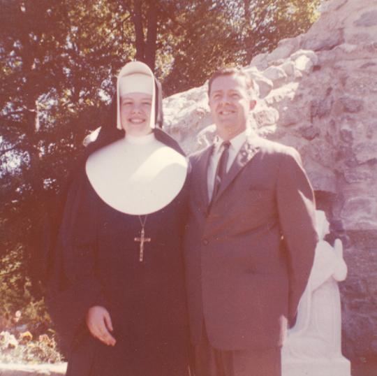 Mary Ann Adams and father E. Norman Adams-sm
